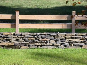 Simple Stone and Wood Horse Fence Ideas