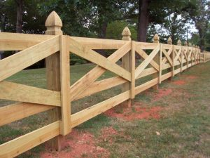 Wooden Crossbuck Style Horse Fence Ideas.