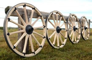 The Running Wagon Wheels Horse Fence
